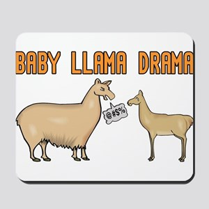 Baby Llama Drama Mousepad