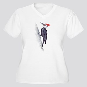 handsome pileated woodpecker Women's Plus Size V-N