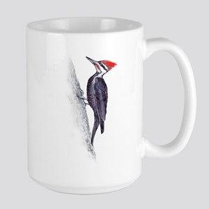 handsome pileated woodpecker Large Mug