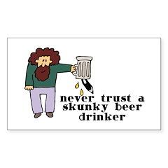 Skunky Beer Drinker Sticker (Rectangle 10 pk)