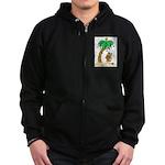 Desert Island Christmas Zip Hoodie (dark)