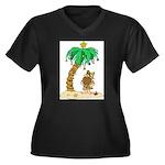 Desert Island Christmas Women's Plus Size V-Neck D