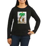 Desert Island Christmas Women's Long Sleeve Dark T