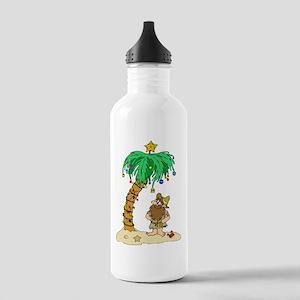 Desert Island Christmas Stainless Water Bottle 1.0