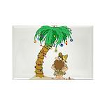 Desert Island Christmas Rectangle Magnet (100 pack