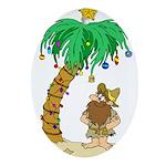 Desert Island Christmas Ornament (Oval)