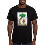 Desert Island Christmas Men's Fitted T-Shirt (dark