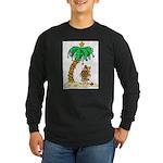 Desert Island Christmas Long Sleeve Dark T-Shirt