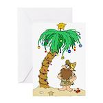 Desert Island Christmas Greeting Card