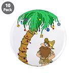 """Desert Island Christmas 3.5"""" Button (10 pack)"""