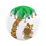 """Desert Island Christmas 3.5"""" Button"""