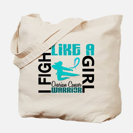 Licensed Fight Like A Girl 3.2 Ovarian Ca Tote Bag