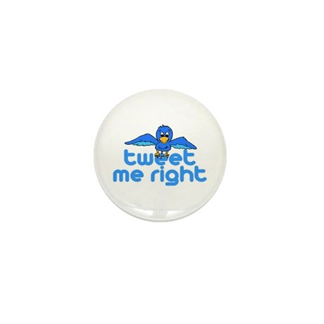 Tweet Me Right Mini Button (100 pack)