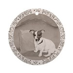 The Sophisticated JRT Ornament (Round)