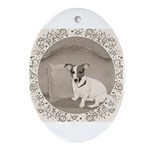 The Sophisticated JRT Ornament (Oval)