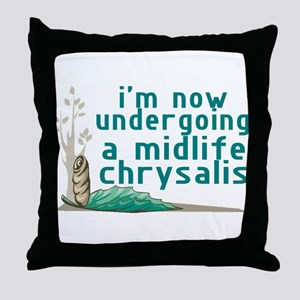 Midlife Chrysalis Throw Pillow