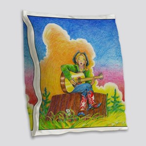 A MIGHTY TREE Page 58 Orig. Burlap Throw Pillow