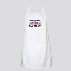 HALF GREEK/ITALIAN-ALL MOUTH Apron