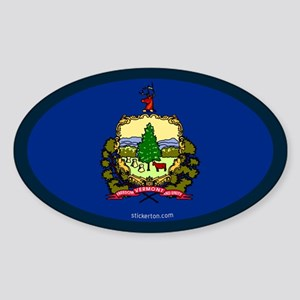 Vermont State Flag Oval Sticker