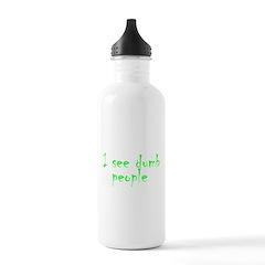 Dumb people Water Bottle