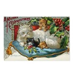 Victorian Christmas Kittens Postcards (8-pack)