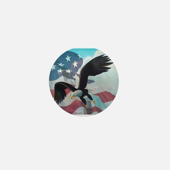 Patriot Eagle Mini Button