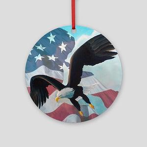 Patriot Eagle Ornament (Round)