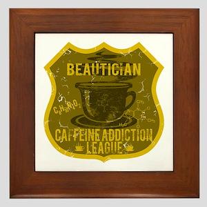 Beautician Caffeine Addiction Framed Tile