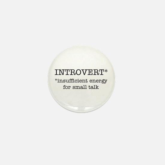 INTROVERT insufficient energy Mini Button
