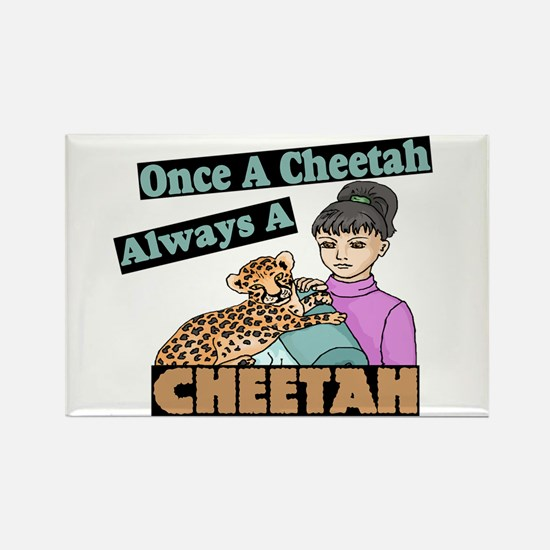 Once A Cheetah Rectangle Magnet