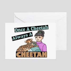 Once A Cheetah Greeting Card