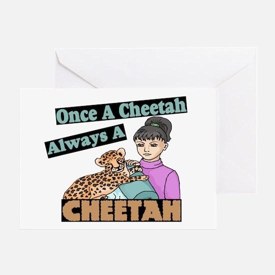 Once A Cheetah Greeting Card