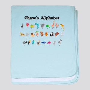 Chase's Animal Alphabet baby blanket