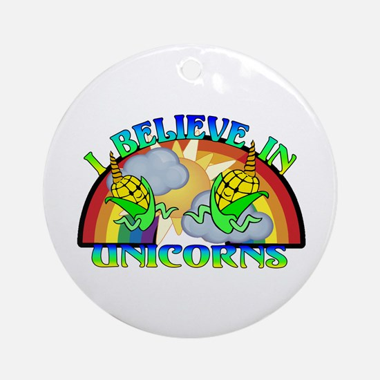 I Believe In Unicorns Ornament (Round)