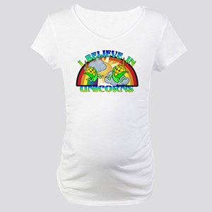 I Believe In Unicorns Maternity T-Shirt