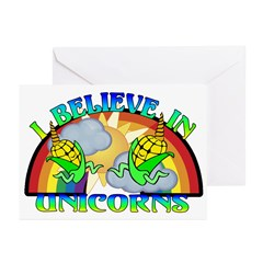 I Believe In Unicorns Greeting Cards (Pk of 10)
