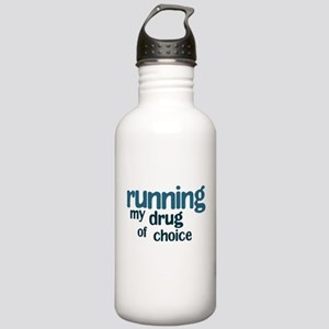 Running: My drug of choice Stainless Water Bottle