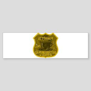 Attorney Caffeine Addiction Sticker (Bumper)