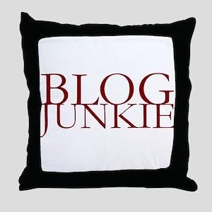 Blog Junkie Throw Pillow
