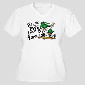 Rock Ewe Women's Plus Size V-Neck T-Shirt