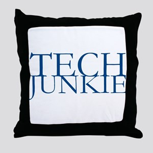 Tech Junkie Throw Pillow