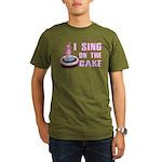 I Sing On The Cake Organic Men's T-Shirt (dark)