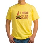 I Sing On The Cake Yellow T-Shirt
