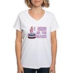 I Sing On The Cake Women's V-Neck T-Shirt