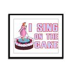 I Sing On The Cake Framed Panel Print