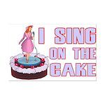 I Sing On The Cake Mini Poster Print