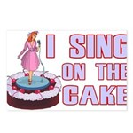 I Sing On The Cake Postcards (Package of 8)