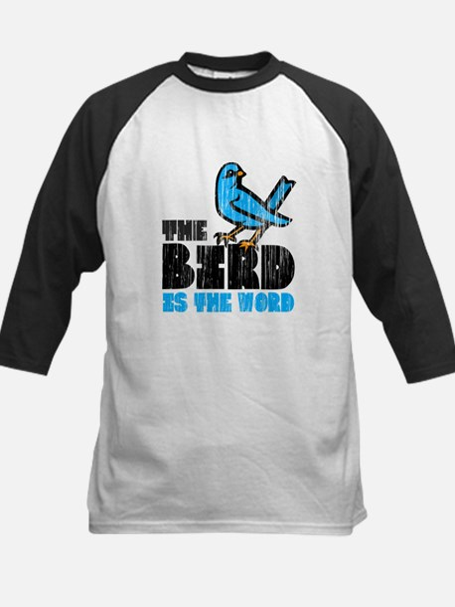 The Bird is the Word Kids Baseball Jersey