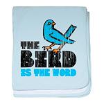 The Bird is the Word baby blanket
