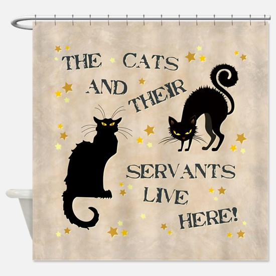 THE CAT AND THEIR... Shower Curtain
